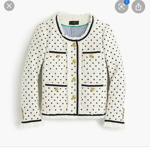 JCrew Collection Polka dot Lady Jacket w/chiffon